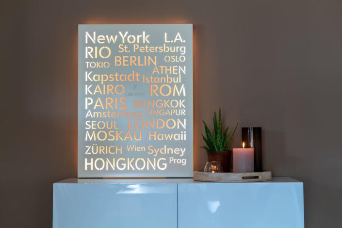 Dekorative Wandleuchte für Wohnbereich