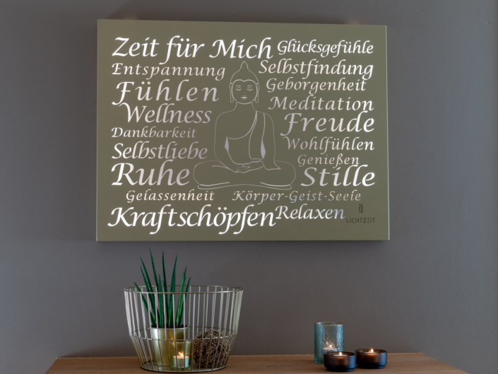 Kraftspendendes Wandbild für den Wellnessbereich