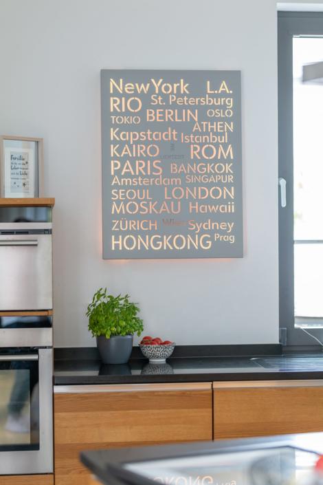Dekorative Wandleuchte für die Küche